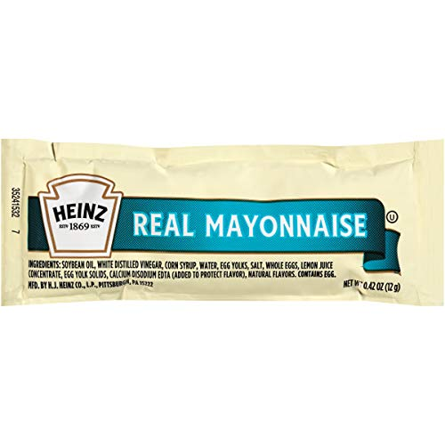Heinz Mayonnaise Packets, 12 g. Single Serve Packets (Pack of 500)