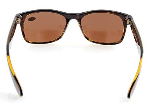 Eyekepper Classic Bifocal Sunglasses Brown Lens +2.0