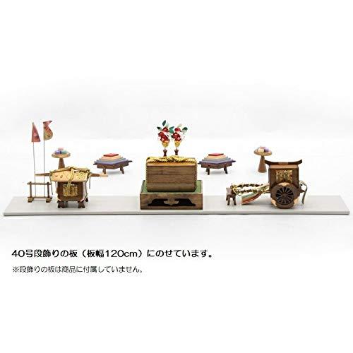 アウトレット品 雛人形お道具セット 40号【it-1027】六品道具 古代塗り   B07J25KVK3