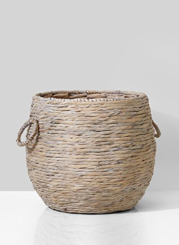 Serene Spaces Living Water Hyacinth Fishbowl Basket - Decorative Plant Holder, Storage Basket, Measures 17'' Diameter and 16'' Tall by Serene Spaces Living