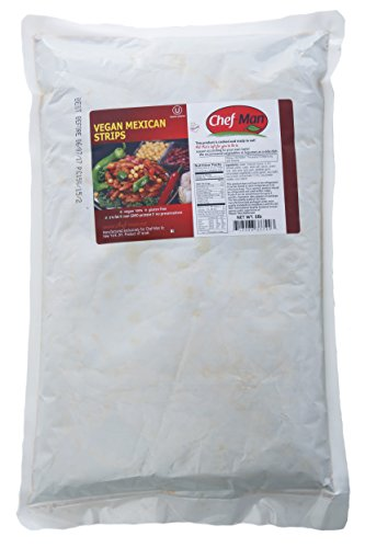 Price comparison product image Chef-Man Vegan 5 LB. Bulk Food Packs Ready to Eat For Vegetarians,  Mexican Vegan Strips,  Gluten Free,  Pre-cooked,  Pre-seasoned,  Non-GMO,  Shelf Stable,  All natural,  Meat-free,  Soy-protein,  OU Certified