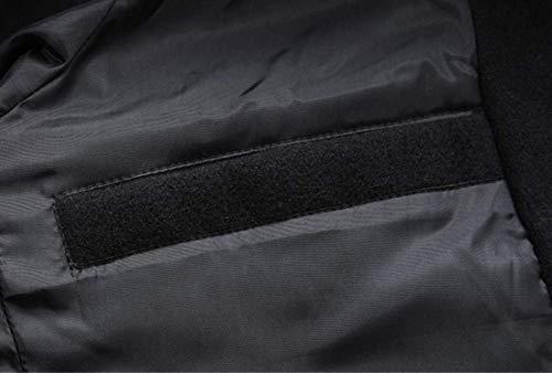 Slim Da Abbigliamento Invernale Black Fit Capospalla Lungo Trench Kangqi Uomo Monopetto Lana In Oz5awSq