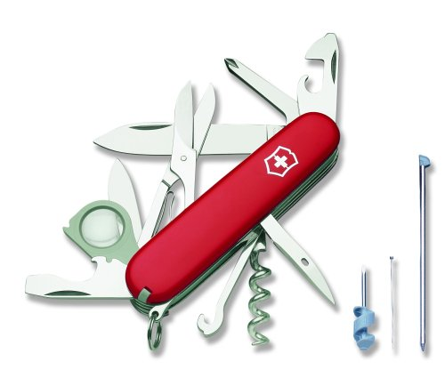 Victorinox Swiss Army Explorer Plus Pocket Knife (Red), Outdoor Stuffs