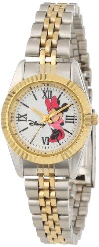 Disney Women's W000575 Minnie Mouse Two-Tone Status Watch - Disney Watch Featuring Minnie Mouse
