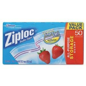 Ziploc Double Zipper Storage Bags, 50 Counts
