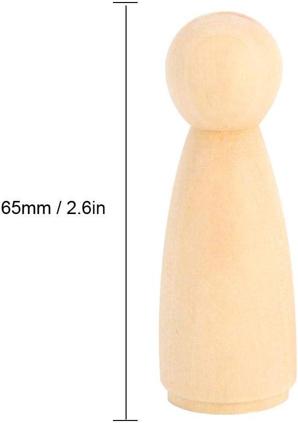 Exblue Cuerpos de mu/ñecas de Clavija de Madera Mujer 10 Piezas 65 mm Formas de Personas inacabadas Cuerpos de Personas de Madera Mu/ñecas de /ángel para Manualidades DIY