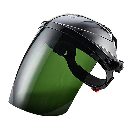 Zhi Jin Strong Adjustable Safety Face Shield Visor Mask Anti UV Infrared Scratch Splash Helmet Eye Protector Black ()