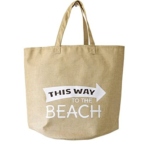 Cheap Kimjun Multipurpose Canvas Bag Beach Shoulder Bag Reusable Shopping Tote Bag Toy Organizer Storage Basket Khaki for sale
