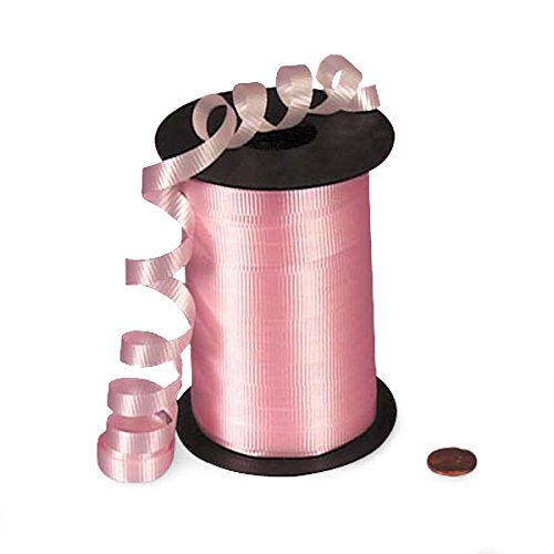 Light Pink Crimped Curling Ribbon 3/8