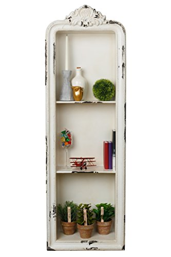 AdirHome Rustic Vertical Wood Wall Shelf with 3 Sections by AdirHome