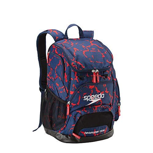 Speedo Swim Backpack - Printed Teamster 35l, Red/White/Blue, 1SZ