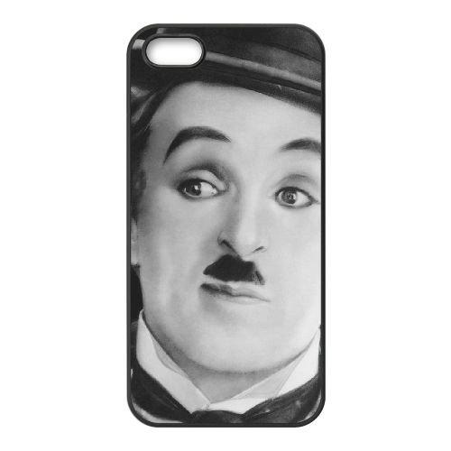 Chaplin 002 coque iPhone 4 4S cellulaire cas coque de téléphone cas téléphone cellulaire noir couvercle EEEXLKNBC24097