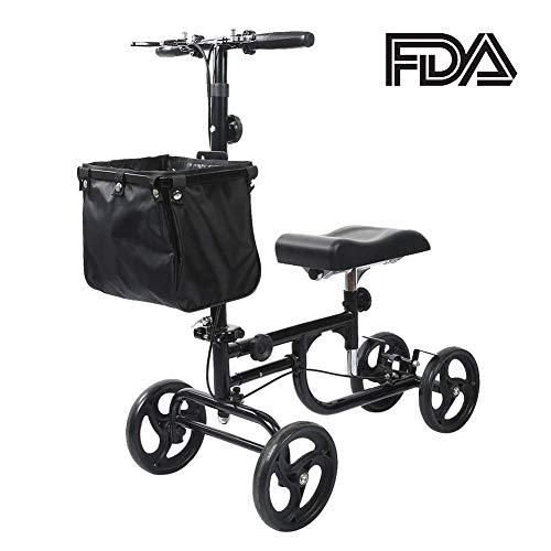 ELENKER Steerable Knee Walker Deluxe Medical Scooter for Foot Injuries