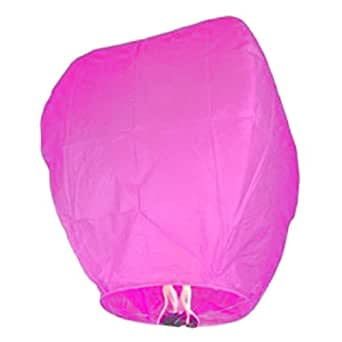 Colored Sky Flying Sky Wish Lamp Lantern 10pc (Pink)