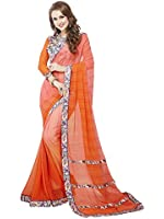Ambika Sarees Collection Printed Multi Colour Georgette And Lycra Saree With Blouse Material