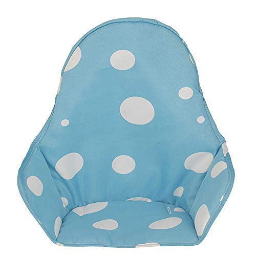 Hothuimin Highchair Seat Cover, Cushion Liner Pad Cover, Universal Baby Highchair Insert Mat Washable Foldable - Blue ()