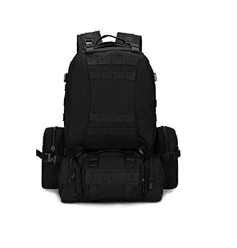 Z&N Backpack Ventiladores militares camuflaje paño impermeable de Oxford morral militar mochila táctica bolso de los hombres que acampa mochila al aire libre caminando mochila de la combinaciónD56L I