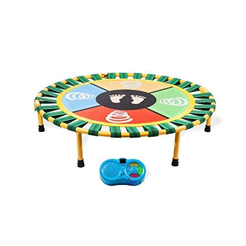 Dimple Dance Jump and Play Mini Electronic Trampoline With Exciting Fun Touch Playmat, LED Scoreboard Sounds, Connects To Smartphone For Kids( 40 Inch Dia 9 Inch Height ) ()