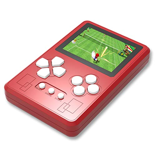 ZHISHAN Portable Handheld Game Console 2.6 Screen Built in 318 Classic Retro Old Style Video Games Perfect for Holiday or Travel Entertainment Surprise Birthday Gift for Children Adults (Red)