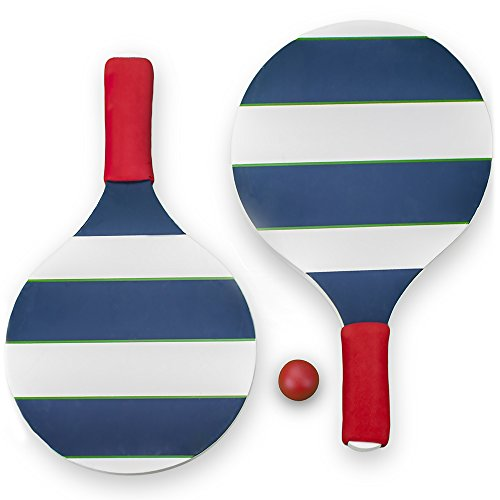 Striped Paddle Ball Set with Carrying Case by Sol Coastal by Sol Coastal