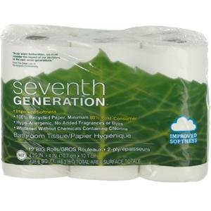 UPC 732913137268, Seventh Generation, Bath Tissue 12Rl Pck, 1-Each (04 Pack)