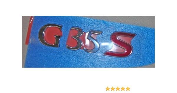 Infiniti G35 Trunk Emblem Nissan Genuine Part NEW