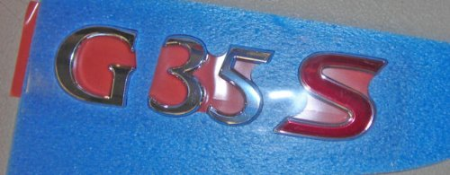 (Infiniti Nissan Genuine Factory Original OEM G35 SEDAN 4DR G35 S REAR NAMEPLATE EMBLEM SPORT)