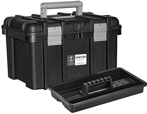 Murakush ツールボックス 電気技師用ツールボックス ハードウェアツールボックス ストレージツールボックス ローリングオーガナイザー ストレージソリューション 大容量 大荷重 電気技師用 ポータブル ブラックフラッグシップ