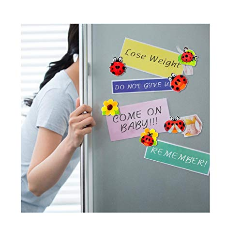 Saying Cartoon Ladybug Series Magnetic Refrigerator Stickers, 3D Sticker Fridge Magnets Suitable For Kitchen Locker, Kitchen/Dining/Bar Counter Supplies (6PCS)