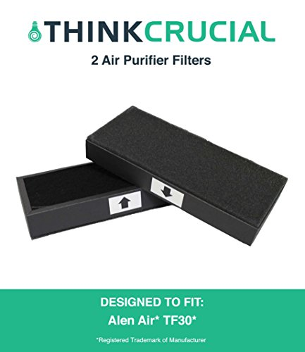 2PK Alen Air TF30 Air Purifier Filters Fit T100 & T300 Air Purifiers, Designed & Engineered by Crucial Air