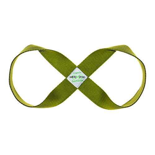 Infinity Strap - ORGANIC BAMBOO - Endless Strength & Flexibility with a Twist! - 3 Sizes (Olive (Green), Small)