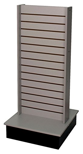 Rolling Slatwall Gondola Display 2-Sided Retail Store Fixture US Made Gray New