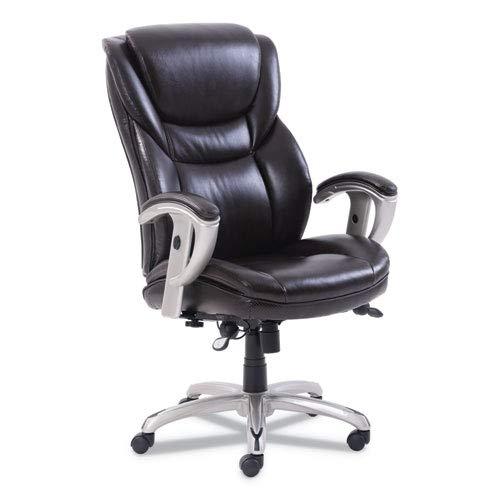Sertapedic Emerson Executive Task Chair, 22 1/4w x 22d x 22h Seat, Brown Leather -