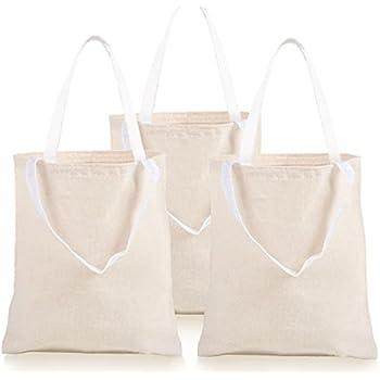 76e77519fd0 Amazon.com  Darice Natural Tote Bag  13.5 x 14 inches  Clothing