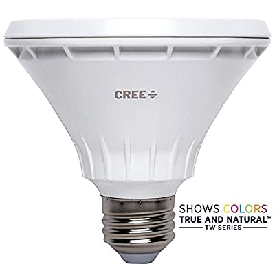 Cree 75W Equivalent Bright White PAR30 Short Neck 40 Degree Flood Dimmable LED Light Bulb