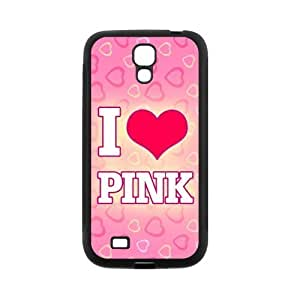 High use Quality Customizable Durable Rubber Material the Love Pink Samsung Galaxy S4 yourself Back Cover Case you