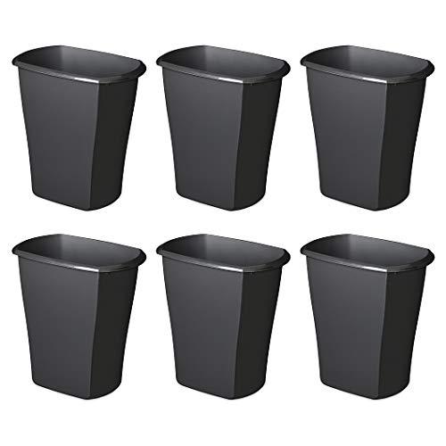 STERILITE, 3 Gal./11.4 L Rectangular Wastebasket, Case of 6