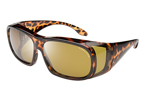 Eagle Eyes FitOns Polarized Sunglasses - Tortoise Shell
