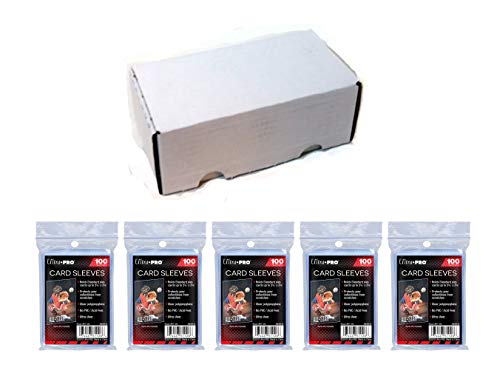 Ultra Pro Soft Sleeves 100 Pack x5 + 400 Count Storage - Sleeves 500