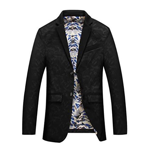 Acvxz Décontracté Costume Taille 1 Style Pour 4 Hommes Des Unique couleur Décontractés Slim Jeunes Mode Vêtements Personnalité Black Chinois De Xl rqr5d4