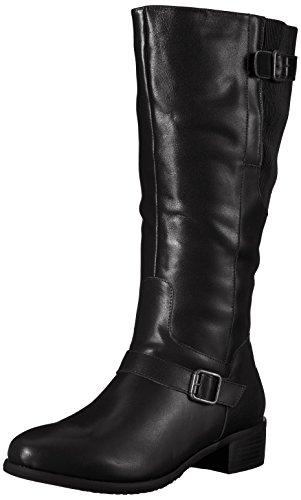 Propet Women's Teagan Riding Boot, Black, 9.5 M US