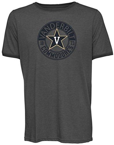 NCAA Vanderbilt Commodores Men's Short Sleeved Heathered Jersey, XX-Large, Charcoal