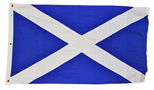 Scotland Scottish St Andrews Cross Flag Heavy Cotton Sewn Stripes 3 X 5 Nwt