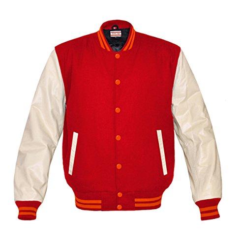 Orginal American Style Varsity Leather Biker Letterman College Kid Wool Jacket
