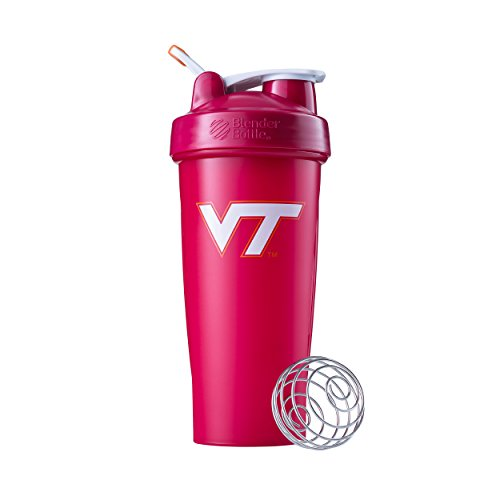 BlenderBottle Classic NCAA Collegiate Shaker Bottle, Virginia Tech - Maroon/Maroon, - Virginia Premium Outlet