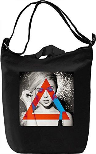 Sexy Girl Hipster Triangles Borsa Giornaliera Canvas Canvas Day Bag  100% Premium Cotton Canvas  DTG Printing 