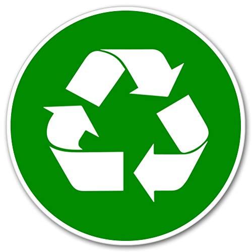 AK Wall Art Recycle Sign Green Circle Vinyl Sticker - Car Window Bumper Laptop - Select Size