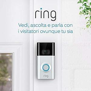Ring Video Doorbell 2 | Videocitofono in HD a 1080p, comunicazione bidirezionale, rilevazione di movimento, connessione… 14 spesavip
