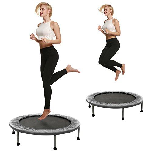 40 Inch Foldable Mini Fitness Trampoline with Safety Pad [US Stock]