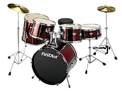 Amazon Com First Act Md590 8 Piece Drum Set Musical Instruments